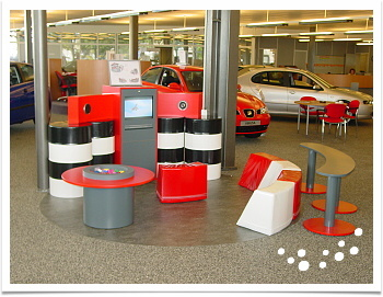 Kids corner car showroom